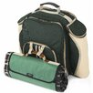 Greenfield Super Deluxe Picnic Backpack Hamper for Two People with Picnic Blanket