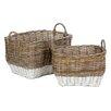 Castleton Home Pramble 2 Piece Storage Rattan Basket Set