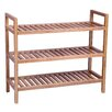 Hallowood Furniture New Waverly 3 Tier Stackable Shoe Rack
