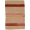 Dash & Albert Europe Lexington Handmade Red/Beige Indoor/Outdoor Area Rug