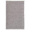 Dash & Albert Europe Checks Shale Hand-Woven Grey Area Rug