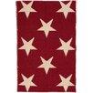 Dash & Albert Europe Star Red/Ivory Indoor/Outdoor Area Rug