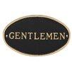 Montague Metal Products Inc. Oval Gentlemen Restroom Statement Address Plaque