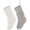The Seasonal Aisle Christmas Faux Fur Polyester Stockings (Set of 2)