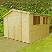 dCor design 10 x 10 Wooden Storage Shed
