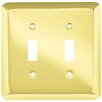 Franklin Brass Stamped Round Double Switch Wall Plate