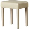 Home & Haus Alta Upholstered Faux Leather Dressing Table Stool
