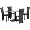 Home & Haus Beane Dining Set with 4 Chairs