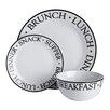 Premier Housewares Noir 12-Piece Dinnerware Set