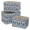 Premier Housewares Pisces 3 Piece Storage Fabric Basket Set