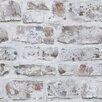 Arthouse Whitewashed 10.05m L x 53cm W Roll Wallpaper