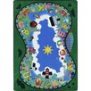 Joy Carpets Alphabet Railway Blue/Green Area Rug