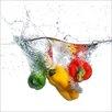 Pro-Art Glasbild Fresh Paprika, Fotodruck