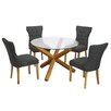 LPD Oporto Naple Dining Table and 4 Chairs