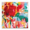 Artist Lane 'Happy not Hippy' by Amira Rahim Art Print on Wrapped Canvas