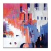 Artist Lane 'Stairs to Happiness' by Catherine Fitzgerald Art Print on Wrapped Canvas