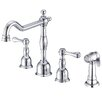 Danze® Opulence Double Handle Deck Mounted Kitchen Faucet with Side Spray