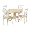 Küstenhaus Essgruppe Bartett mit ausziehbarem Tisch und 4 Stühlen