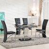 Trends Interiors Essgruppe Ravenna mit ausziehbarem Tisch und 4 Stühlen
