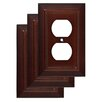 Franklin Brass Classic Architecture 1 Duplex Wall Plate (Set of 3)