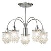 Endon Lighting 5 Light Semi Flush Mount