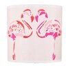 Chloe Croft London 20,3 cm Lampenschirm Fuchsia Flamingos aus Polyester