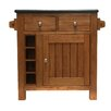 Hazelwood Home Kitchen Island with Granite Top