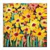 Artist Lane 'Jaya's daisies' by Anna Blatman Art Print on Wrapped Canvas