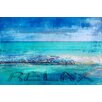 Parvez Taj Blue Relax Art Print Wrapped on Canvas