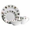 Castleton Home 16 Piece Porcelain Dinnerware Set