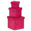 Premier Housewares Pandanus 3 Piece Storage Basket Set with Lid