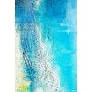 Parvez Taj Aqua Beach Art Print Wrapped on Canvas