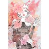 """Marmont Hill """"Floral Girl"""" by Loretta So Art Print Wrapped on Canvas"""