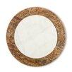 The GG Collection Antiquity Marble Wood Lazy Susan