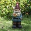 Hi-Line Gift Ltd. Gnome Holding Butterfly Statue