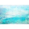 Parvez Taj White Surf Art Print Wrapped on Canvas