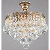 Maytoni Chandeliers Diamant Crystal Gala 4 Light Semi-Flush Ceiling Light