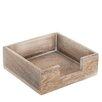 Old Basket Supply Ltd Small Square Wooden Napkin Box