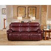 Hyde Line Furniture Boston Leather Layflat Power Reclining 3 Seater Sofa with Comfort Plus Headrest