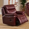 Hyde Line Furniture Boston Leather Layflat Power Recliner Chair with Comfort Plus Headrest
