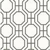 "Viv + Rae Linda Circuit 33' x 20.5"" Modern Ironwork Wallpaper Roll"