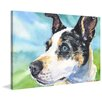 "Marmont Hill ""Australian Cattle Dog"" by George Dyachenko Painting Print on Wrapped Canvas"