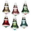 6 Piece Mini Bell Ornament Set (Set of 6)
