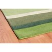 Metro Lane Paris Hand-Woven Wool Green Rug