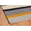 Metro Lane Paris Hand-Woven Wool Grey/Yellow Rug
