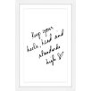 Marmont Hill 'Heels Head' by Dantell Framed Typography