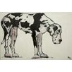 Marmont Hill 'Great Dane' by Tori Campisi Painting Print on Wrapped Canvas