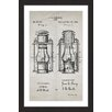 Marmont Hill 'Lantern 1894 Old Paper' by Steve King Framed Graphic Art