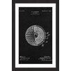 Marmont Hill 'Golf Ball 1902 Black Paper' by Steve King Framed Graphic Art