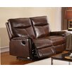 Hyde Line Furniture Graham Leather Layflat Reclining 2 Seater Sofa